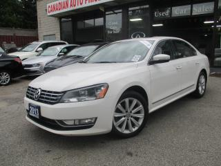 Used 2013 Volkswagen Passat TDI -HIGHLINE-LEATHER-SUNROOF-BLTOOT-HEATED-DIESEL for sale in Scarborough, ON