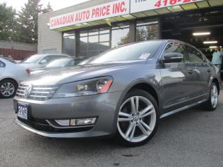 Used 2013 Volkswagen Passat TDI-PRM-LEATHER-SUNROOF-HEATED-BLTOOT-LOADED for sale in Scarborough, ON