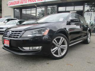 Used 2012 Volkswagen Passat TDI-SEL-HIGHLINE-NAVI-LTHER-ROOF-BLTOOT-HEATED for sale in Scarborough, ON