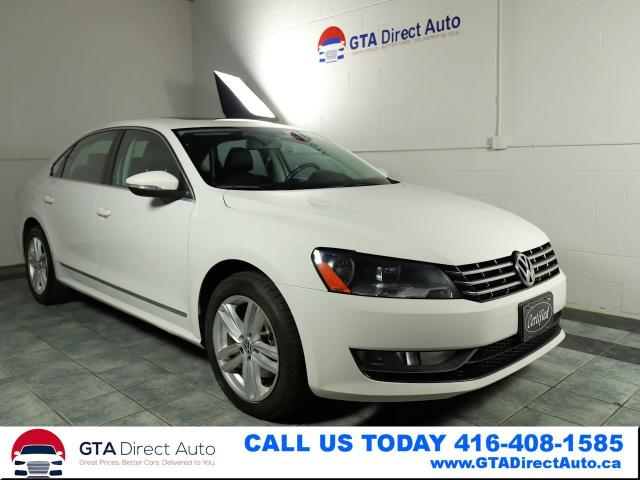 2012 Volkswagen Passat TDI DSG Comfortline Sunroof Leather BT Certified