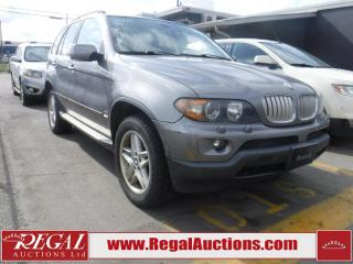 Used 2004 BMW X5 4D Utility AWD for sale in Calgary, AB