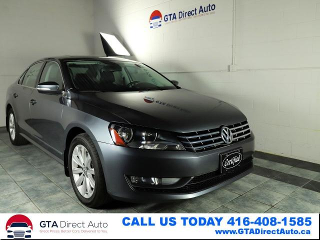 2013 Volkswagen Passat Highline TDI Sunroof FenderSound Leather Certified