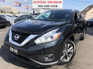 Used 2016 Nissan Murano SL AWD Navigation/Leather/Sunroof/360 Cam/Pwr Tailgate for sale in Mississauga, ON
