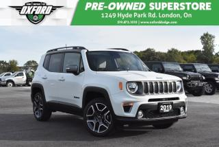 Used 2019 Jeep Renegade Limited 4x4 - One Owner, Clean, Very Low KMs for sale in London, ON