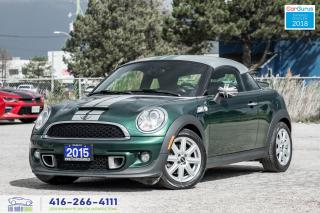 Used 2015 MINI Cooper Coupe S Turbo 1 Owner Clean Carfax Certified We Finance for sale in Bolton, ON