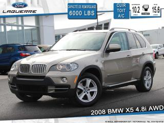Used 2008 BMW X5 AWD 4.8i**CUIR*TOIT*SONAR*BLUETOOTH*A/C** for sale in Victoriaville, QC