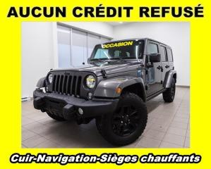 Used 2016 Jeep Wrangler SAHARA 4X4 NAVIGATION SIÈGES CHAUFFANTS *CUIR* for sale in Mirabel, QC