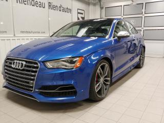 Used 2016 Audi S3 2.0T Progressiv + AWD + CUIR + TOIT OUVRANT for sale in Ste-Julie, QC