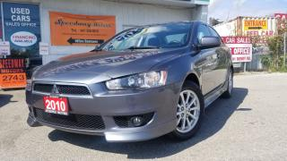 Used 2010 Mitsubishi Lancer SE - Auto, Heated Seats, Alloys for sale in Mississauga, ON