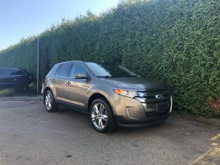 Used 2013 Ford Edge LIMITED AWD + NAV + DUAL PANE SUNROOF + BLIND SPOT MONITORING SYSTEM + RR PARK ASSIST + NO EXTRA DEALER FEES for sale in Surrey, BC