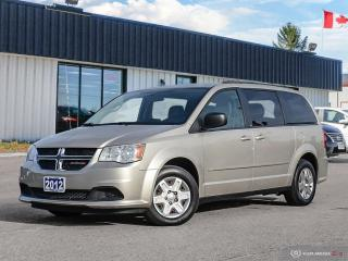 Used 2012 Dodge Grand Caravan SE,STOW-N-GO,DVD,ECON for sale in Barrie, ON