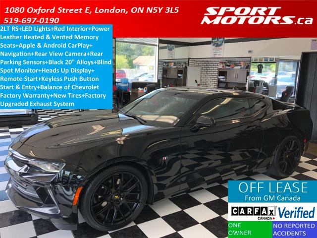 2018 Chevrolet Camaro LT RS LED Light+Red Leather+Blind Spot+Vented Seat