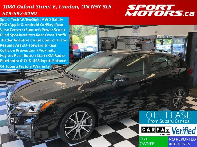2017 Subaru Impreza AWD Sport Tech W/EyeSight+Apple Play+Sunroof+Camer