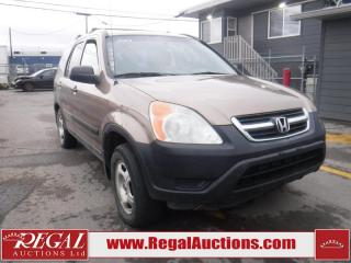 Used 2002 Honda CR-V 4D Utility AWD for sale in Calgary, AB