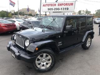 Used 2016 Jeep Wrangler Unlimited Sahara Navigation/Hard Top/Touch Screen for sale in Mississauga, ON