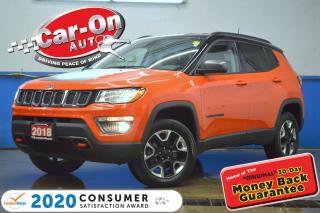 Used 2018 Jeep Compass Trailhawk 4x4 LEATHER NAV REAR CAM HTD SEATS for sale in Ottawa, ON