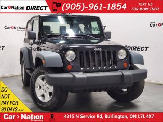 Used 2009 Jeep Wrangler X| AS-TRADED| 4X4| ONE PRICE INTEGRITY| for sale in Burlington, ON
