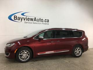 Used 2018 Chrysler Pacifica Limited - HTD/COOLED LTHR! PANOROOF! NAV! FULL PWR GROUP! + MORE! for sale in Belleville, ON