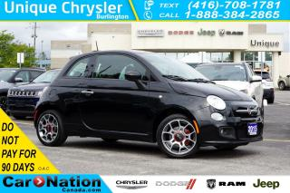 Used 2015 Fiat 500 SPORT| RED BRAKE CALIPERS| SPORT SUSPENSION & MORE for sale in Burlington, ON