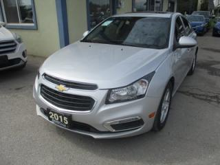 Used 2015 Chevrolet Cruze LOADED 2-LT EDITION 5 PASSENGER 1.4L - TURBO.. LEATHER.. HEATED SEATS.. POWER SUNROOF.. BACK-UP CAMERA.. BLUETOOTH SYSTEM.. for sale in Bradford, ON