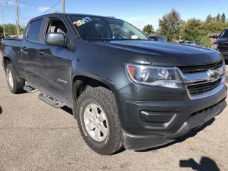 Used 2017 Chevrolet Colorado WT Crew 4x4 with BackupCam, Bluetooth, Auto, Air, Cruise, Pwr Windows and Keyless Entry! for sale in Kemptville, ON