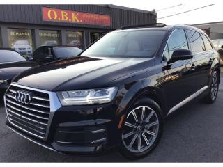 Used 2017 Audi Q7 QUATTRO-7 PASSAG-NAVIGATION-CAM RECUL360-TOIT PANO for sale in Laval, QC