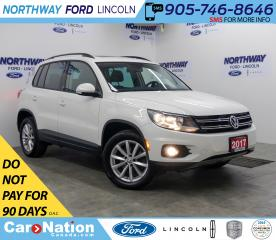 Used 2017 Volkswagen Tiguan Wolfsburg Edition | AWD | HTD LEATHER | PANOROOF | for sale in Brantford, ON