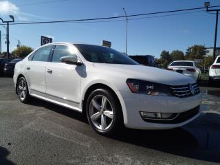 Used 2012 Volkswagen Passat TDI BLANC SUR NOIR CUIR TOIT MAGS *84,000KM* for sale in St-Eustache, QC