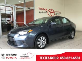 Used 2016 Toyota Corolla * LE * CAMERA DE RECUL * BLUETOOTH * for sale in Mirabel, QC