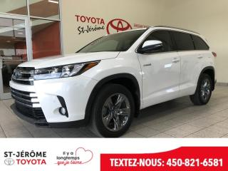 Used 2018 Toyota Highlander HYBRID * HYBRID * LIMITED * AWD * 42 000 KMS * for sale in Mirabel, QC