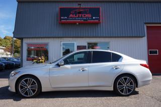 Used 2015 Infiniti Q50 LIMITED AWD 3.7 AUTO GPS NAV CUIR TOIT CAMERA 360 for sale in Lévis, QC