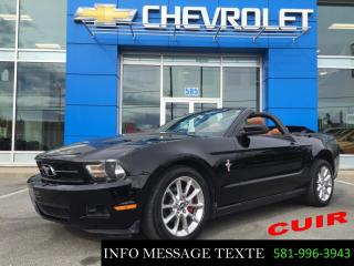 Used 2010 Ford Mustang Convertible BAS KILOMETRAGE, CUIR CHAUFFANTS for sale in Ste-Marie, QC