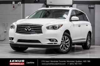 Used 2014 Infiniti QX60 AWD; 7 PASS CUIR TOIT CAMERA DEMARREUR HITCH BAS KILOMÉTRAGE - 7 PASSAGERS - CAMERA DE RECUL - BLUETOOTH - DÉMARREUR - ATTACHE REMORQUE for sale in Lachine, QC
