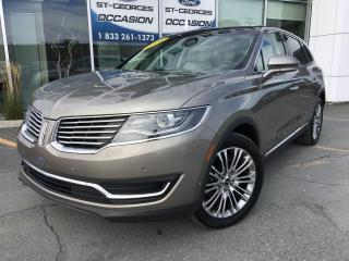 Used 2016 Lincoln MKX Reserve AWD V6 3.7L CUIR TOIT GPS MAGS 20  LOADER for sale in St-Georges, QC