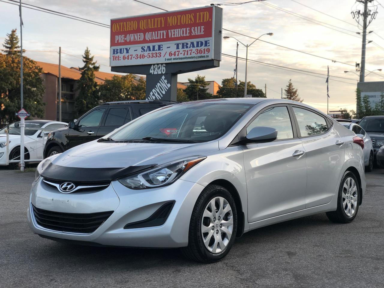 Ontario Quality Motors >> Used 2014 Hyundai Elantra Gl For Sale In Toronto Ontario