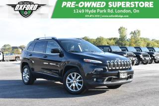 Used 2016 Jeep Cherokee Limited - One Owner, UConnect, Roof Rack for sale in London, ON