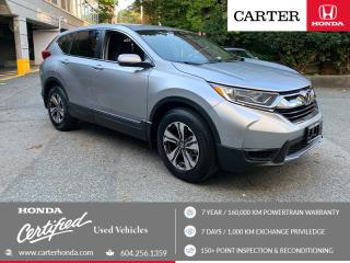 Used 2018 Honda CR-V LX CERTIFIED + 7 YEAR/160000KM for sale in Vancouver, BC