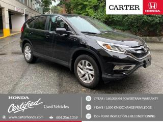 Used 2016 Honda CR-V EX-L CERTIFIED + 7 YEAR/160000KM for sale in Vancouver, BC