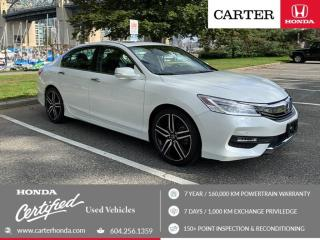 Used 2017 Honda Accord Touring CERTIFIED + 7 YEAR/160000KM for sale in Vancouver, BC