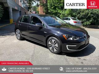Used 2016 Volkswagen E-GOLF SE 4dr HB SE + ELECTRIC + CARTER HONDA CLEAROUT! ELECTRIC + CARTER HONDA CLEAROUT! for sale in Vancouver, BC