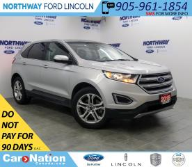 Used 2018 Ford Edge Titanium | AWD | LEATHER | BACKUP CAM | PWR GATE | for sale in Brantford, ON