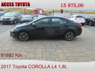 Used 2017 Toyota Corolla SE for sale in Rouyn-Noranda, QC