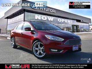 Used 2016 Ford Focus Titanium  - Leather Seats -  Heated Seats - $81.74 /Wk for sale in Nepean, ON