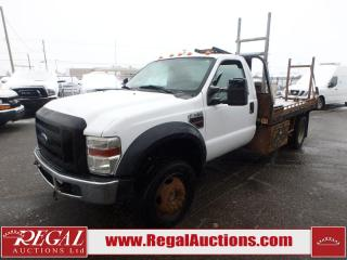 Used 2008 Ford F-550 XL REG CAB FLAT DECK 4WD DRW for sale in Calgary, AB
