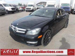 Used 2012 Mercedes-Benz C-CLASS C350 2D COUPE RWD 3.5L for sale in Calgary, AB