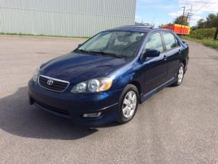 Used 2005 Toyota Corolla 4dr Sdn Sport Manual for sale in Quebec, QC