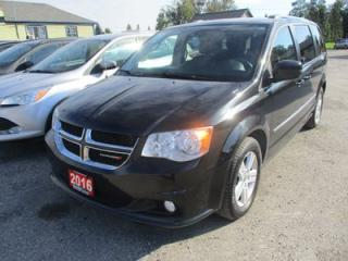 Used 2016 Dodge Grand Caravan FAMILY MOVING CREW EDITION 7 PASSENGER 3.6L - V6.. CAPTAINS.. STOW-N-GO.. NAVIGATION.. DUAL DVD.. POWER DOORS & WINDOWS.. BACK-UP CAMERA.. for sale in Bradford, ON
