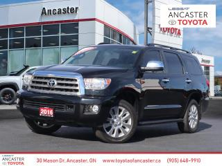 Used 2016 Toyota Sequoia PLATINUM - NAVI|DVD|LEATHER|FULLY LOADED for sale in Ancaster, ON