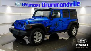Used 2016 Jeep Wrangler UNLIMITED SPORT + 4X4 + A/C + FOGS + WOW for sale in Drummondville, QC