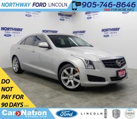 Used 2013 Cadillac ATS 2.5L | PWR HTD LEATHER | PUSH START | BLUETOOTH | for sale in Brantford, ON